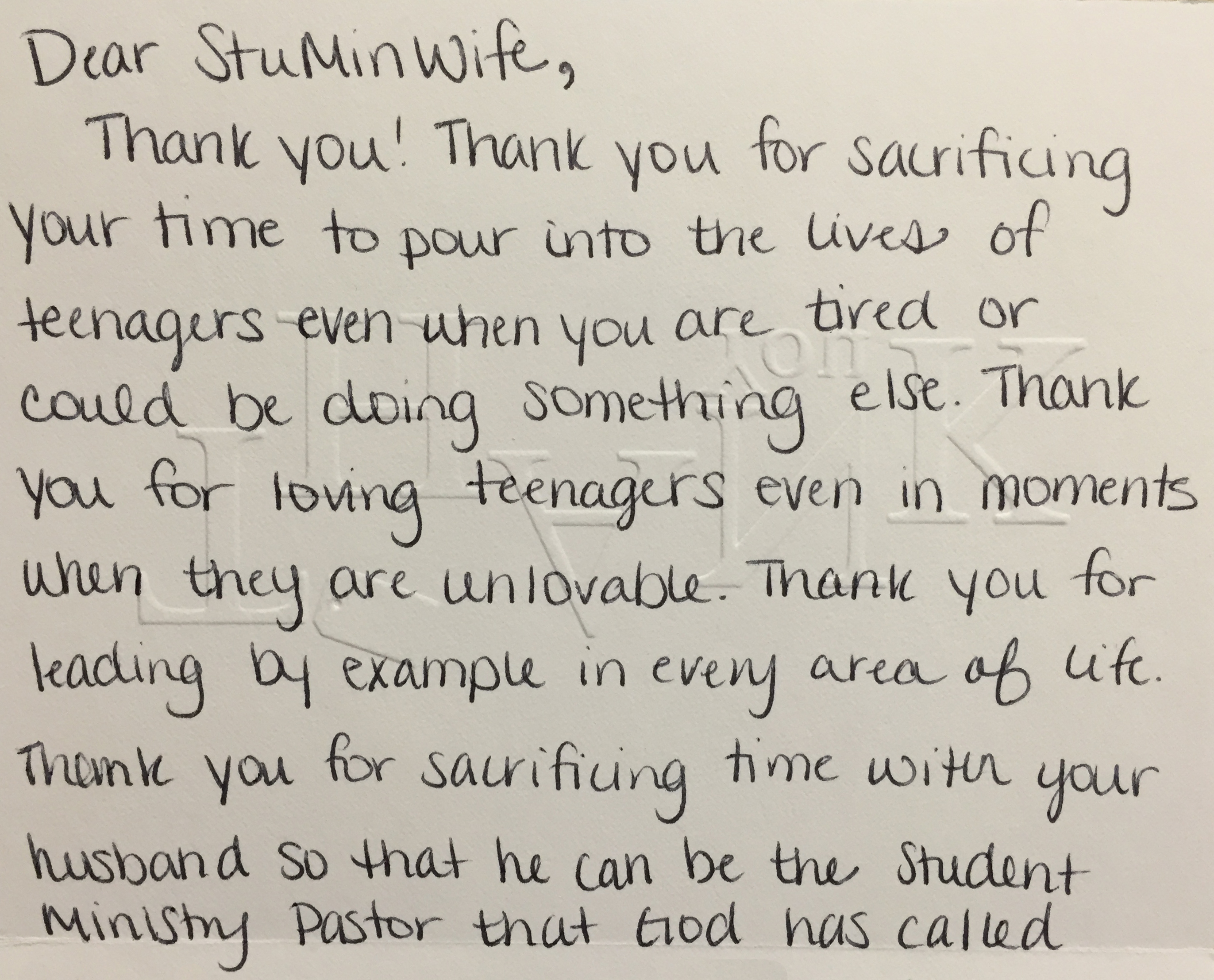 Monday Morning Encouragement An Open Thank You Note Stuminwife